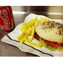 MENÚ hamburguesa de pollo rebozado